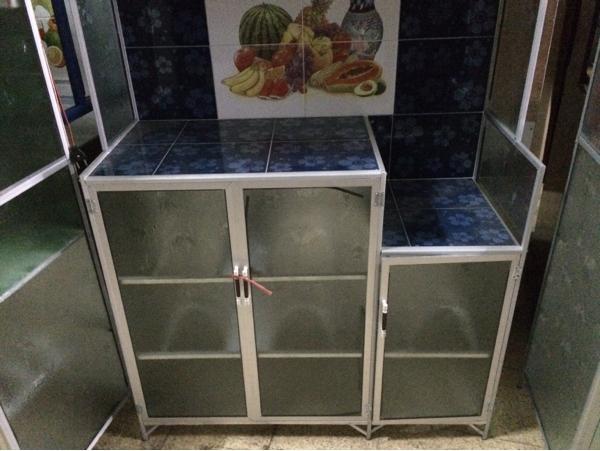 Review Rak Piring 3 Pintu Lemari Dapur Keramik Aluminium Kaca Dan