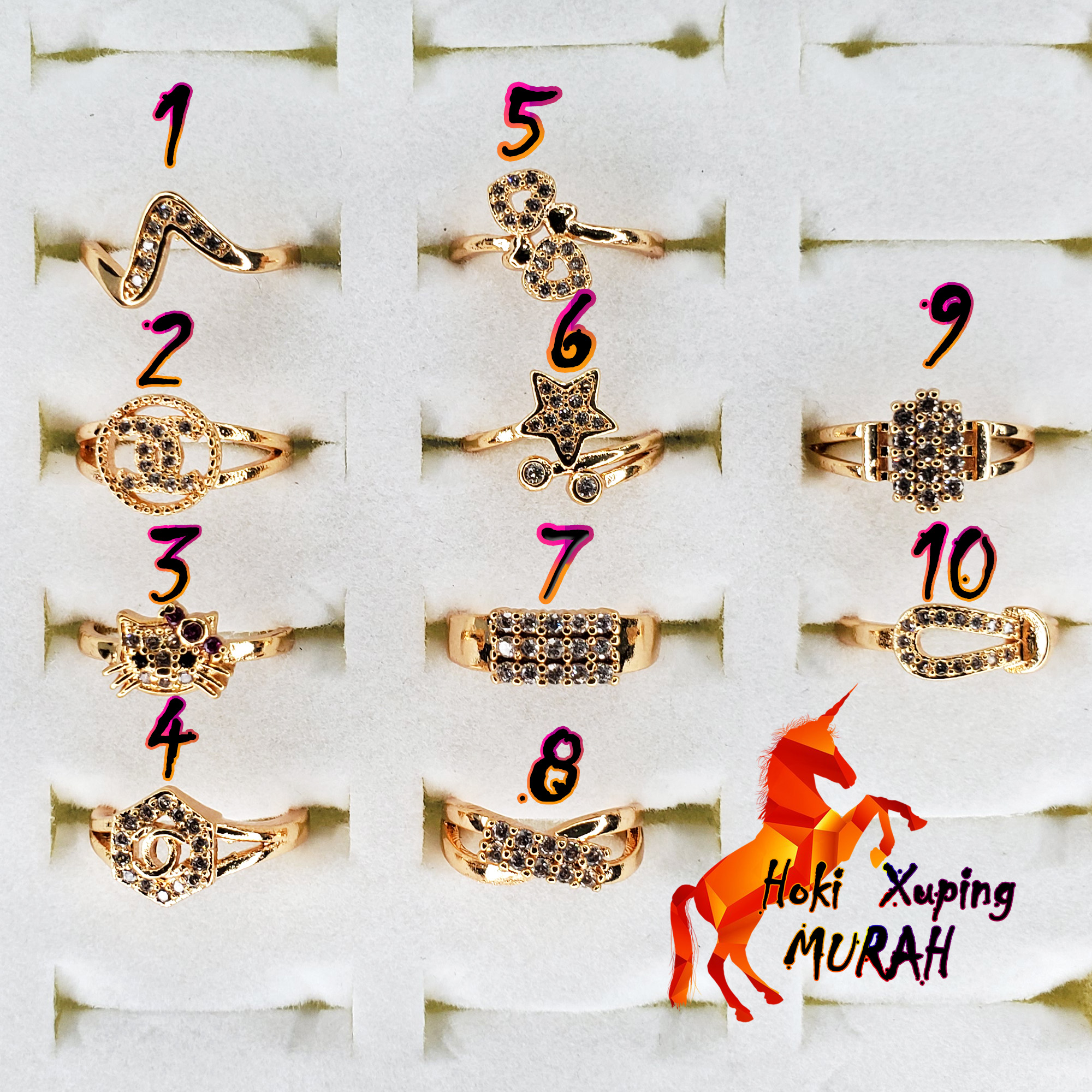 cincin anak permata motif random / perhiasan anak / xuping anak
