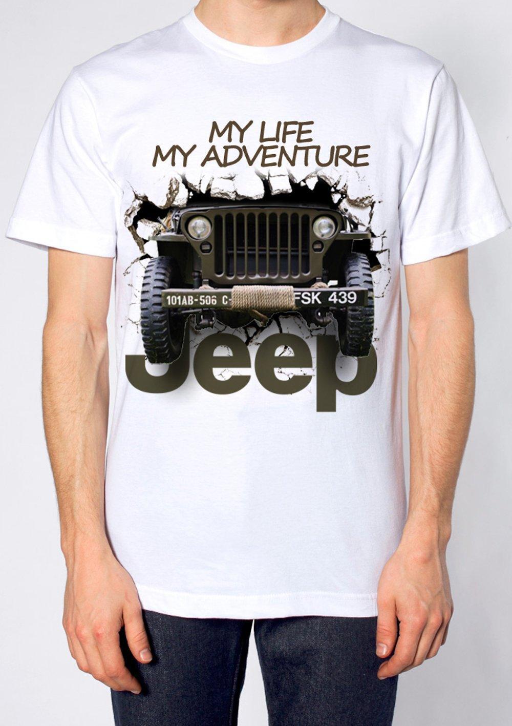 kaos 3d distro pria mobil jeep offroad my adventure original