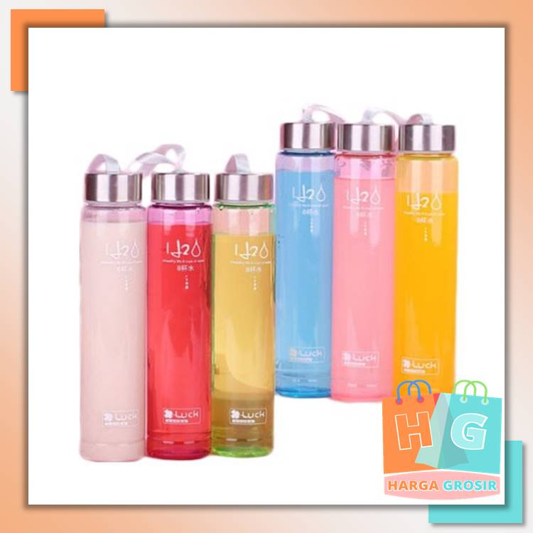 indo – botol minum bening h2o / bottle h2o clear / botol air 280 ml