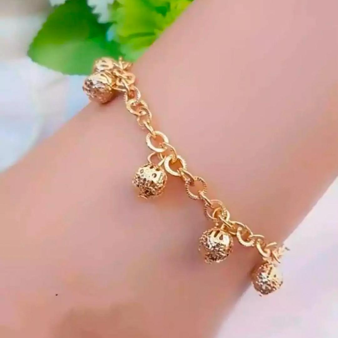 gelang xuping rumbai bola polos new  24k perhiasan fashion