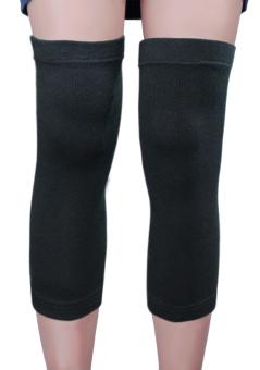 1 Pasang Dukungan Lutut Orang Dewasa Lengan Hangat Elastis Merajut Pendukung Band Bungkus Pelindung Lutut-
