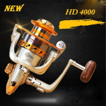 12BB Fishing Spinning Reel Metal Saltwater Reels Freshwater Left Right Handed HD 4000 - intl