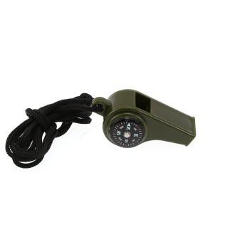 3 In1 Luar Ruangan Kemah Daki Gunung Darurat Survival Perlengkapan Whistle Compass Termometer-Internasional