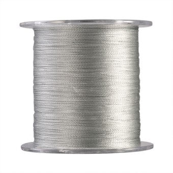 300m PE Braided 4 Strands Super Strong Fishing Lines Multi-filament Fish Rope Cord Grey (0.6) - intl