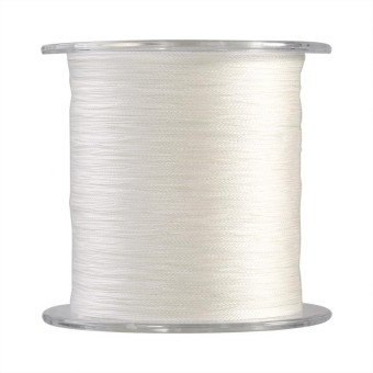epayst 300m PE Braided 4 Strands Super Strong Fishing Lines Multi-filament Fish Rope Cord White (0.6)
