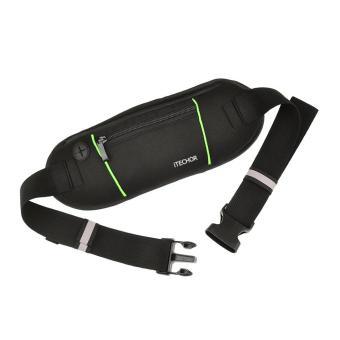 360DSC untuk olahraga lari sabuk dompet saku tas pinggang - Hitam