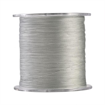 500m PE Braided 4 Strands Super Strong Fishing Lines Multi-filament Fish Rope Cord Grey (3) - intl