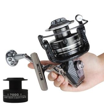 7000 Series 12 + 1 Ball Bearing 4.7: 1 Seamless Metal Full Metal Spool Arms