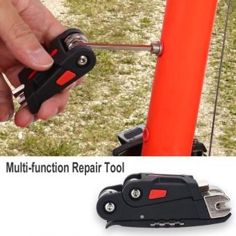DUUTI 16 In 1 Sepeda Gunung Sepeda Multi Fungsi Perbaikan Alat Pemeliharaan Set Kit-Intl