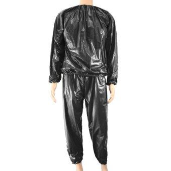 Shock Price Kebugaran Tahan Air PVC Heavy Duty Sauna Suit Keringat Pakaian Gym Latihan Pelangsing Workout