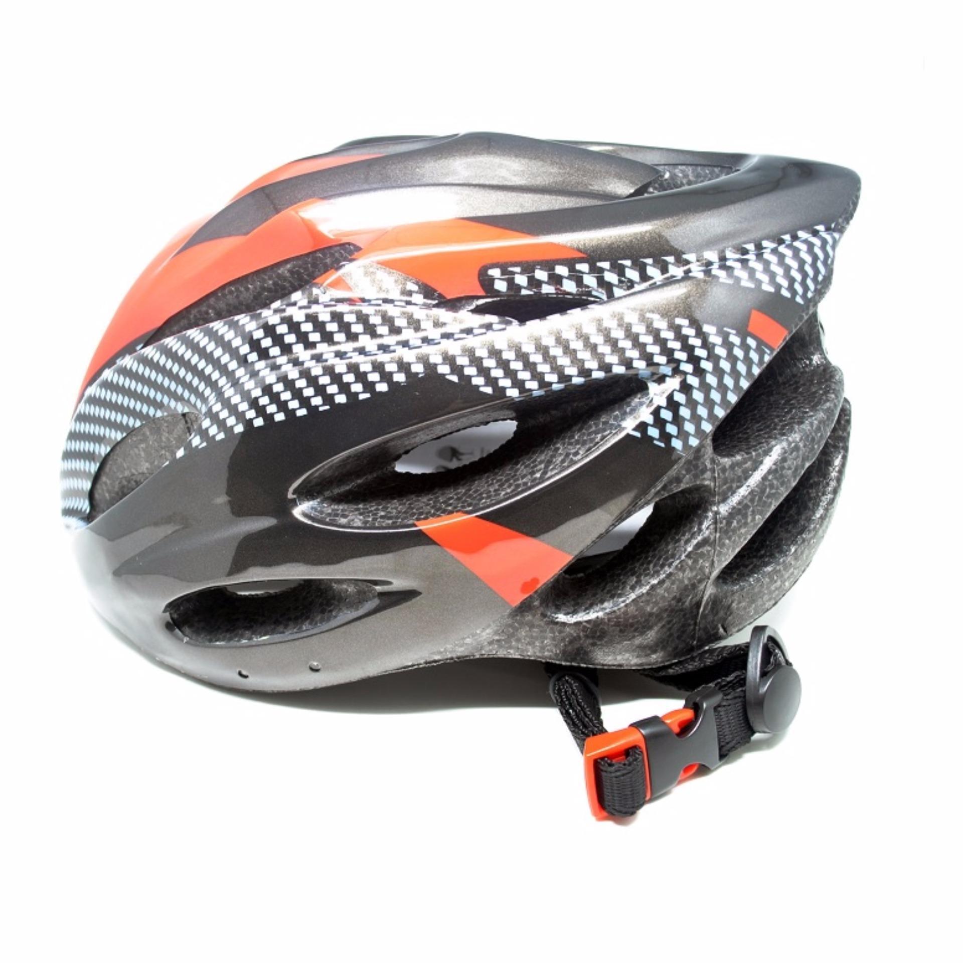 four- u helm sepeda eps foam pvc shell – x10