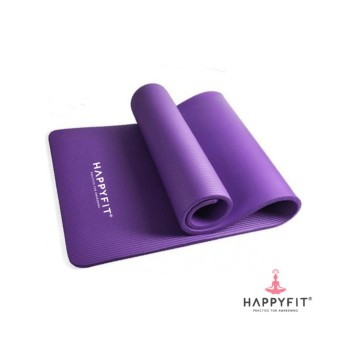 HAPPYFIT MATRAS NBR 10MM EXERCISE MAT - PURPLE (INCLUDE STRAP)