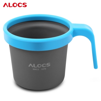 Harga ALOCS TW - 403 280ML Convenient Lightweight Grip PP Handle Cup Mug for Outdoor Activity (Blue)