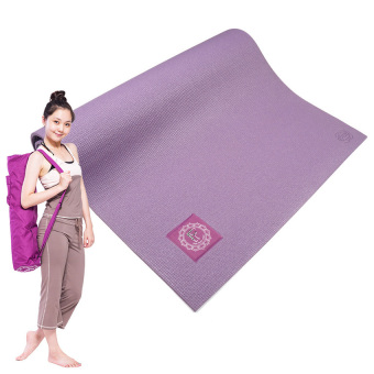 YJS Eco Friendly Yoga Mat~Purple With Bag - Intl