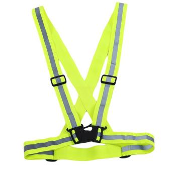 Harga LALANG Reflective Safety Running Band Elastic Reflective Vest (Green) - intl