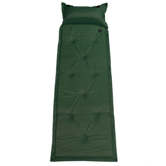 Harga New Self Inflating Air Mattress Mat Pad Pillow Sleeping Bed Camp Hiking Outdoor Dark Green - intl