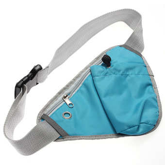Harga Sports Fanny Pack Cycling Waist Belt Bag (Sky Blue)