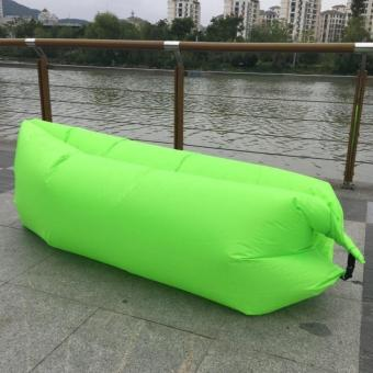 Harga Portable Inflatable Air Bed Sofa Outdoor Beach Camp Sleep Lazy Sofa Bag - Green