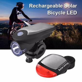 Harga XCSOURCE Solar Powered Bicycle Lamp Bike Bright LED Head Tail Light for Safety Ride