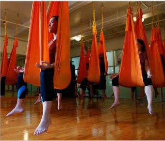 Harga Yoga Orange Swing Fitness Aerial Yoga Slings Anti-gravity Hammock Yoga Belt Straps - intl