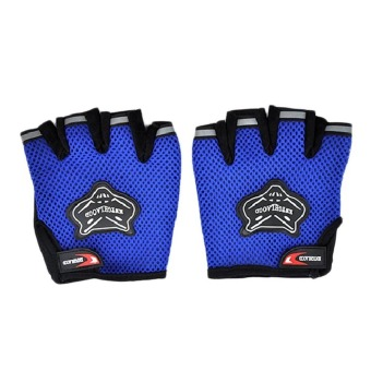 Harga Fancyqube Fashionable Bicycle Half-finger Gloves Blue