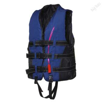 Harga Five Star Store Adult Swimming Polyester Foam Life Jacket VestWhistle Foam Prevention Flood Size L + Whistle - intl
