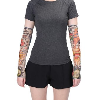 ... 1Pair Set Outdoor Protection Temporary Tattoo Arm Sleeves Cuff Mermaid intl