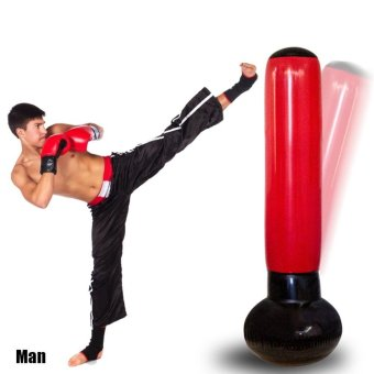 Harga Inflatable Boxing Tower With Pump Speed Balls Training Punching Bag - intl