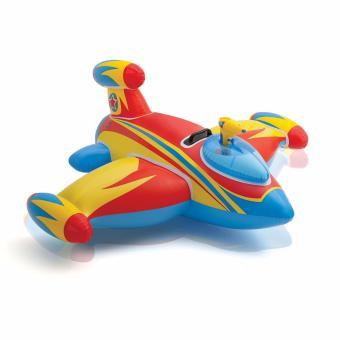 Intex Water Gun Space Ship Ride (Merah) Pelampung Ban Renang Anak Motif Pesawat