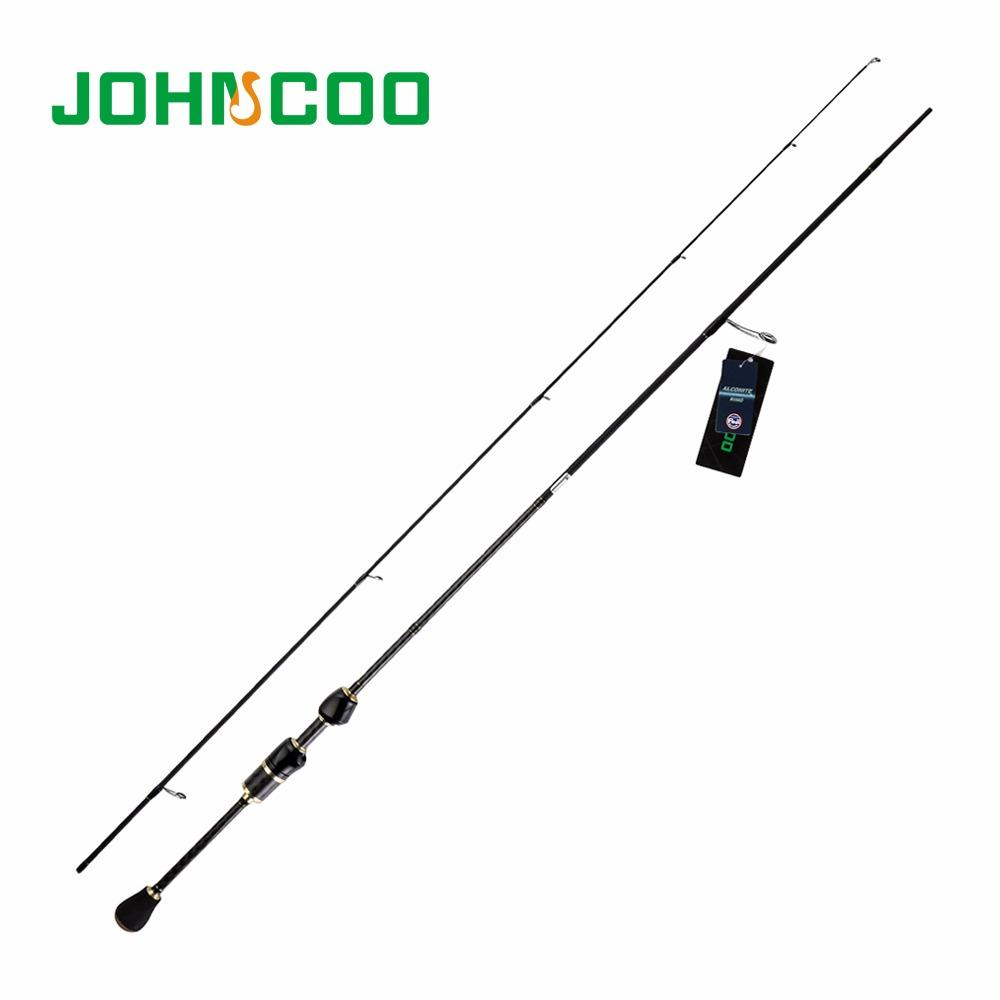 JOHNCOO UL Fishing Rod 1.87m Fast Action Carbon Spinning Rod 1-6g/8g