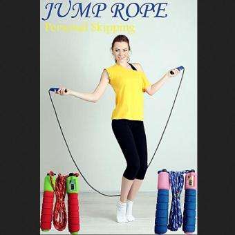 Jump Skipping Rope Soft Handle Counter Tali Skiping Hitung Automatis RANDOM