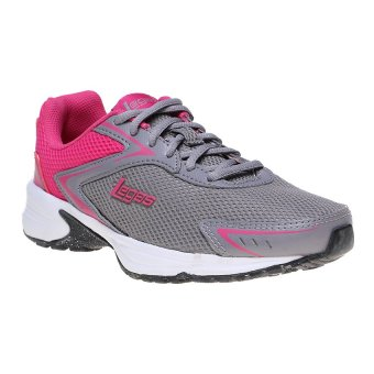 League Legas Series Corona LA W Sepatu Lari Wanita - Cloudbursh-Fuschia Purple-White
