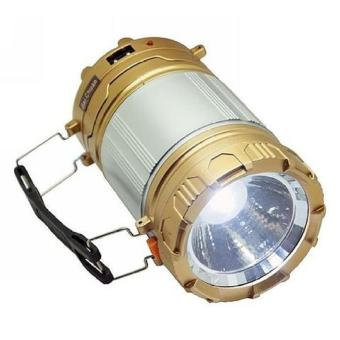 Lentera camping Rechargeable Light 6 LED dengan Senter/ Lampu Camping Tenaga Solar - 9599