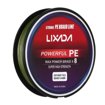 Lixada 300M / 330Yds 8 Strands PE Braided Fishing Line Super Strong Multifilament Fishing Line Carp Fish Line Wires Rope Cord 20-90lb - intl