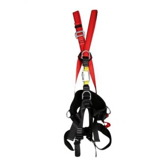 MagiDeal Adjustable Rock Climbing Full Body Protect Belt Caving Fall Arrest Harness-Intl