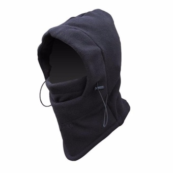 Masker Buff Balaclava Multifungsi Ninja Kupluk Polar 6 In 1 Full Face - Black