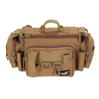 Multifungsi Fishing Bag Fishing Tackle Bag Pinggang Bag Bait Tas Kotak Boat Bag Pouch Case-Intl
