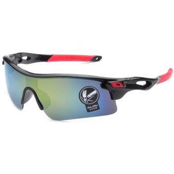 Ormano Sport Kacamata Outdoor UV Protection X-Rider Biker Motor 9183 Sunglasses - Hitam
