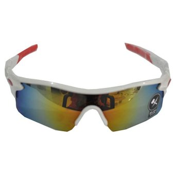 Ormano Sport Outdoor UV400 Protection HM Sunglasses Kacamata Sepeda Hiking Motor Adventure Olahraga 9181 - Putih