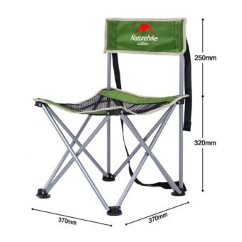 Outdoor Portable Folding Chair Backrest Menulis Kursi BBQ Camping Beach Chair dengan Jahitan Bernapas-Intl