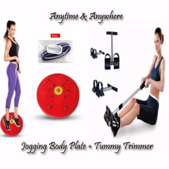 Paket Super Hemat Alat Pembentuk Pelangsing Tubuh Tummy Trimmer Dan Jogging Body Plate Lebih Ekonomis