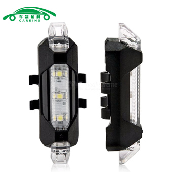 Portable LED USB MTB RoadBike Taillight Charging Safety WarningLight - intl