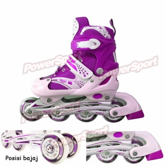 Power Sport in Line Skate Sepatu Roda 2 in 1 Adjustable Wheel M ( 34- a0a856b5fc
