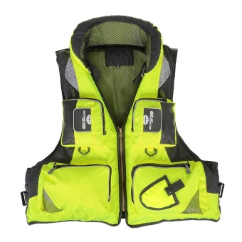Professional Fishing Polyester Adult Safety Life Jacket Survival Vest Swimming Boating Drifting - intl