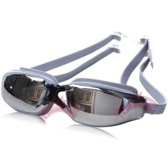 Rainbow Kacamata Renang Santai Swimming Goggles Mirror Anti Fog UV Protection Kaca Mata Google