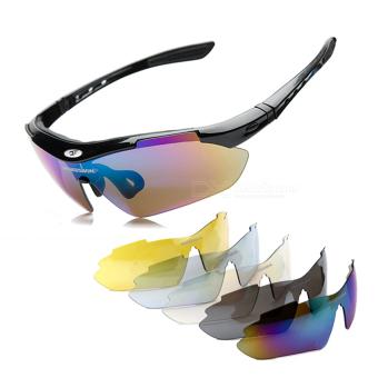 ROBESBON olahraga luar ruangan damar lensa PC bingkai kacamata terpolarisasi sinar UV - International