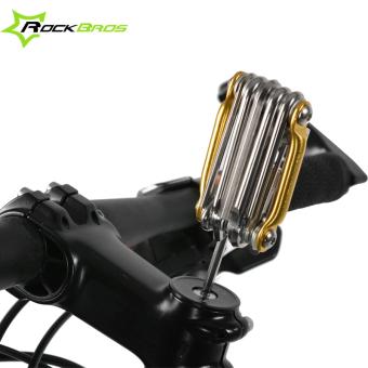 ROCKBROS Mini Repair Pocket Folding Tool 11 In 1 Sepeda Gunung Jalan Sepeda Set Bersepeda Multi