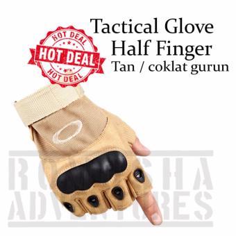 Romusha Tactical Glove Sarung Tangan Half Finger Airsoft Motor Outdoor Tan