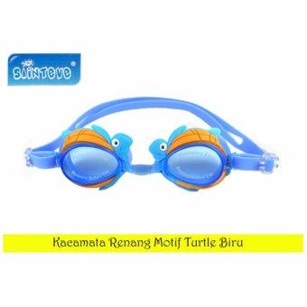 Sainteve Kacamata Renang Anak Motif Turtle Blue